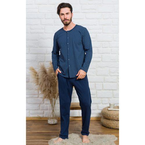 Pánske pyžamo Gazzaz s gombíkmi