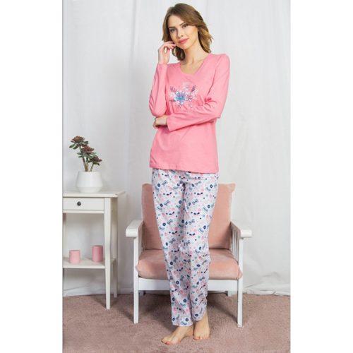 Dýmske pyžamo Vienetta s kvetmi