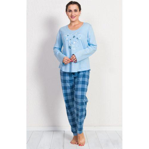 Dámske pyžamo so srdiečkom a kvietkami