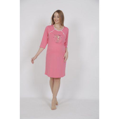 Materská nočná košeľa Vienetta ružová